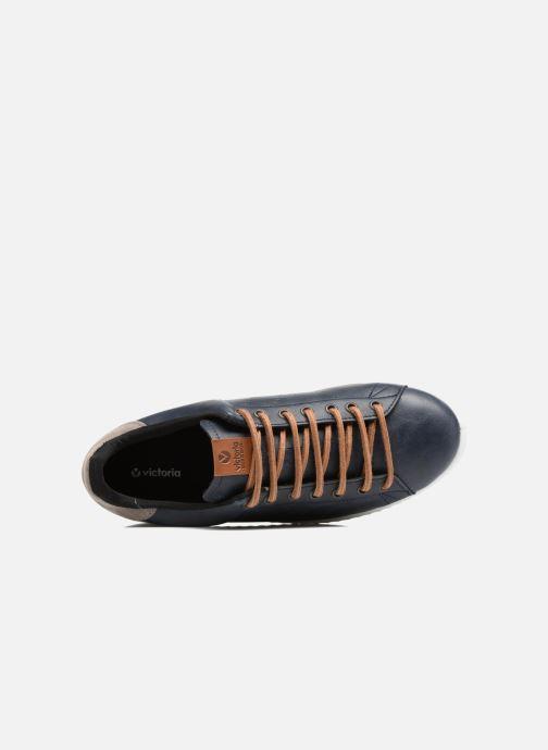 Sneakers Victoria Deportivo Piel PU Contraste Azzurro immagine sinistra