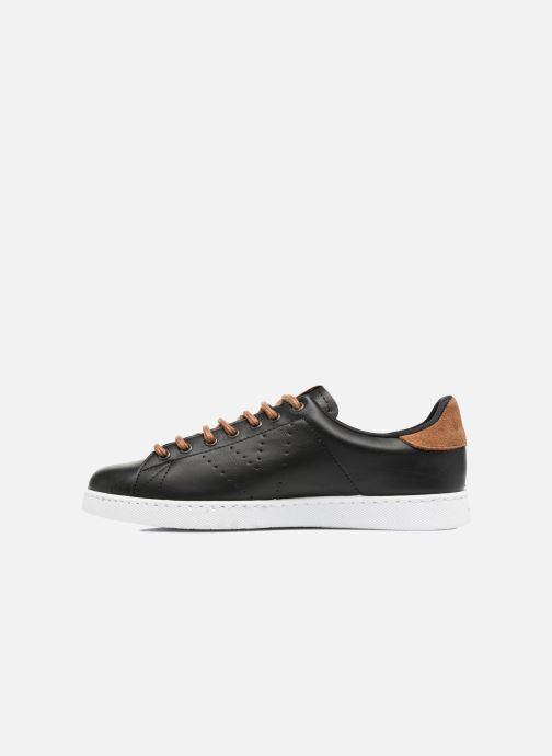Sneakers Victoria Deportivo Piel PU Contraste Nero immagine frontale