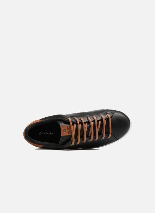 Sneakers Victoria Deportivo Piel PU Contraste Nero immagine sinistra