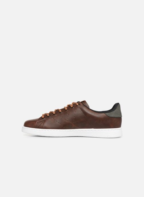 Trainers Victoria Deportivo Piel PU Contraste Brown front view