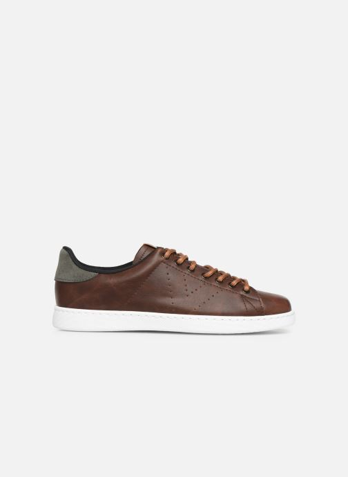Trainers Victoria Deportivo Piel PU Contraste Brown back view