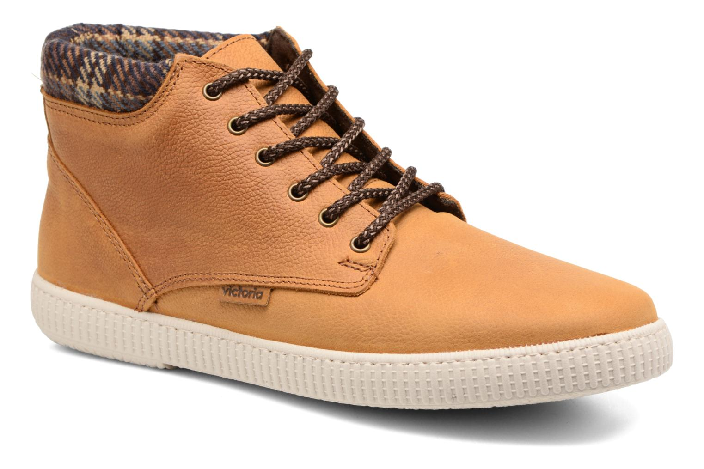 Bottines et boots Victoria Bota Piel Bombeada Cuello M Marron vue détail/paire