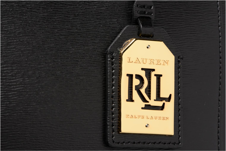 Sacs à main Lauren by Ralph Lauren Newbury Double Zipper Shopper Noir vue gauche