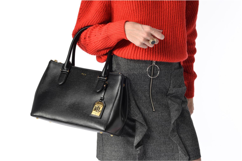 Sacs à main Lauren by Ralph Lauren Newbury Double Zipper Shopper Noir vue haut