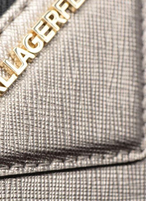 Petite Maroquinerie Karl Lagerfeld Klassik Zip around Wallet Argent vue gauche