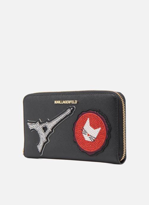 Petite Maroquinerie Karl Lagerfeld Paris Zip Wallet Noir vue portées chaussures