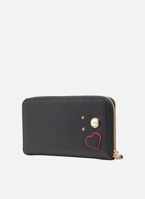 Petite Maroquinerie KARL LAGERFELD Paris Zip Wallet Noir vue droite
