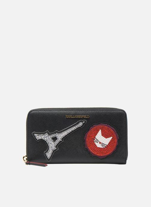 Petite Maroquinerie Karl Lagerfeld Paris Zip Wallet Noir vue détail/paire