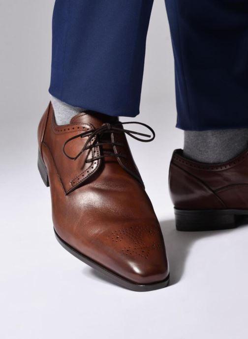 Chaussures à lacets Marvin&Co Luxe Pietu - Cousu Blake Marron vue bas / vue portée sac