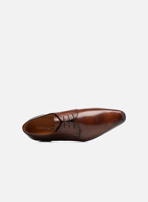 Zapatos con cordones Marvin&Co Luxe Pietu - Cousu Blake Marrón vista lateral izquierda