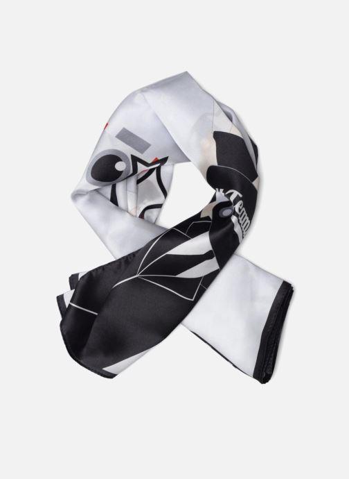 Echarpes et Foulards Karl Lagerfeld Karl Selfie Scarf Soie Blanc vue détail/paire