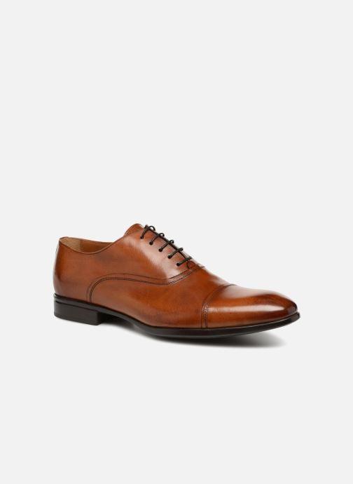 Zapatos con cordones Doucal's Oscar Marrón vista de detalle / par