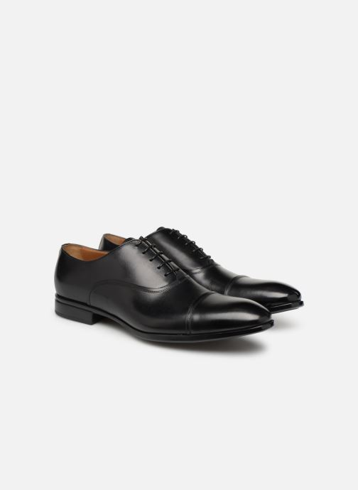Lace-up shoes Doucal's Oscar Black 3/4 view