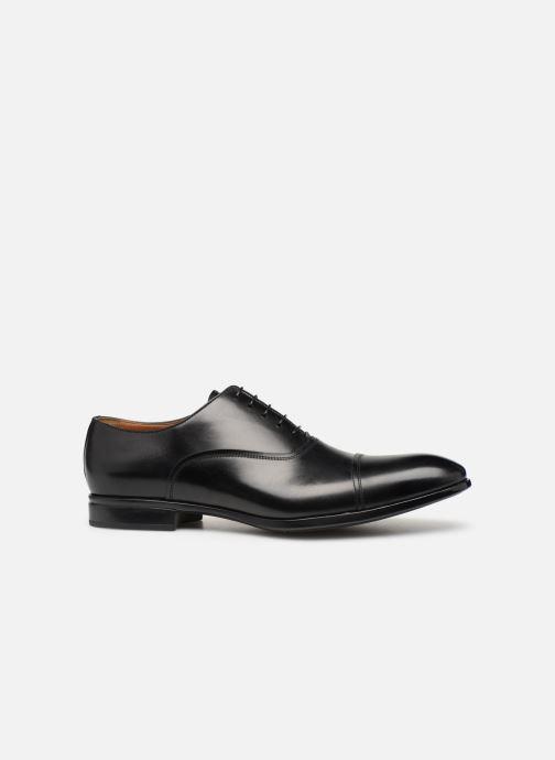 Snörade skor Doucal's Oscar Svart bild från baksidan