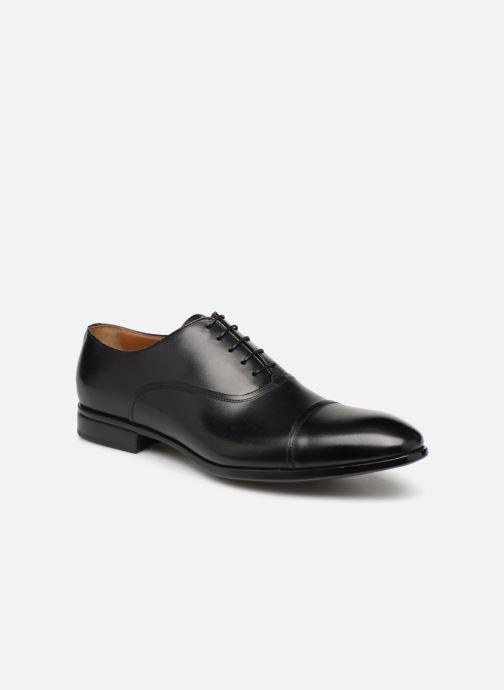 Chaussures à lacets Doucal's Oscar Noir vue détail/paire