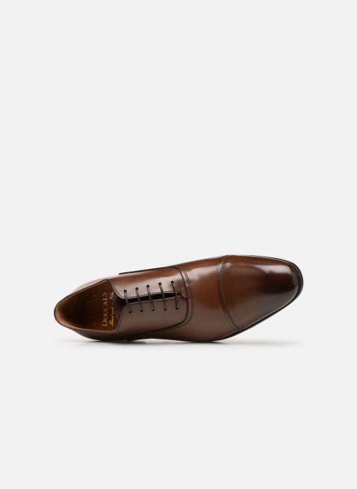Zapatos con cordones Doucal's Oscar Marrón vista lateral izquierda