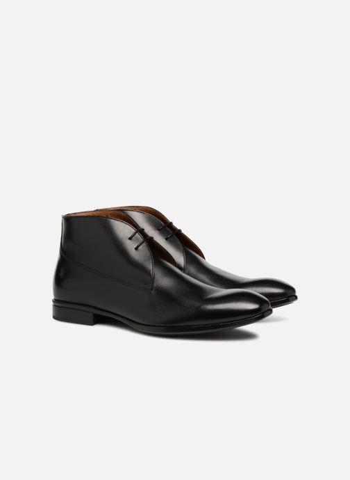 Zapatos con cordones Doucal's Orlando Negro vista 3/4