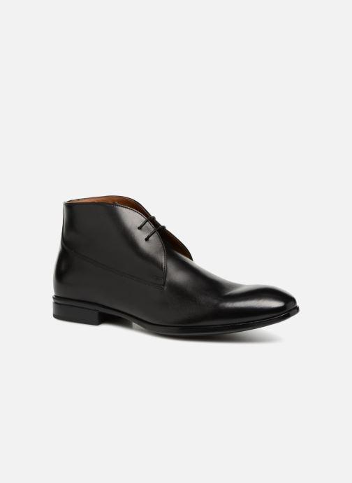Chaussures à lacets Doucal's Orlando Noir vue détail/paire