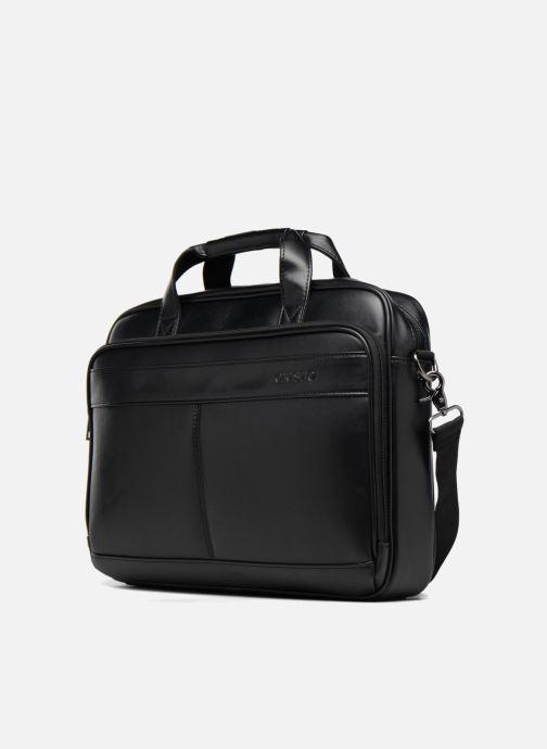 Porta PC Cristo Sacoche double Compartiments 15' Nero modello indossato