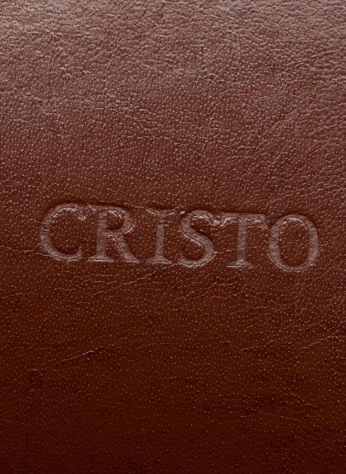 Sacs ordinateur Cristo Cartable 2 Soufflets Cuir Metropole Marron vue gauche