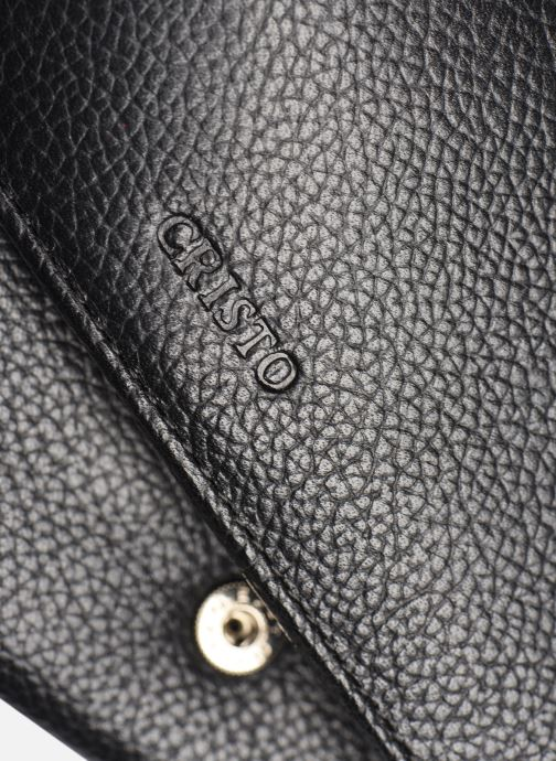 Portemonnaies & Clutches Cristo Portefeuille Cuir schwarz ansicht von links