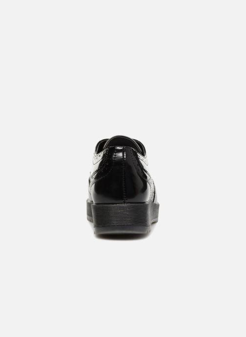 Zapatos con cordones Fresas by Conguitos Lora Negro vista lateral derecha
