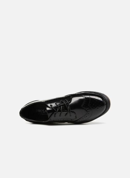 Zapatos con cordones Fresas by Conguitos Lora Negro vista lateral izquierda