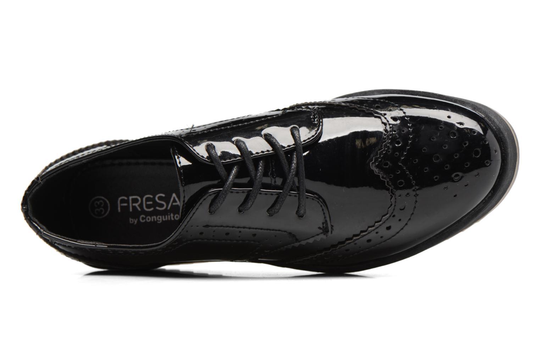 Scarpe con lacci Fresas by Conguitos Lora Nero immagine sinistra