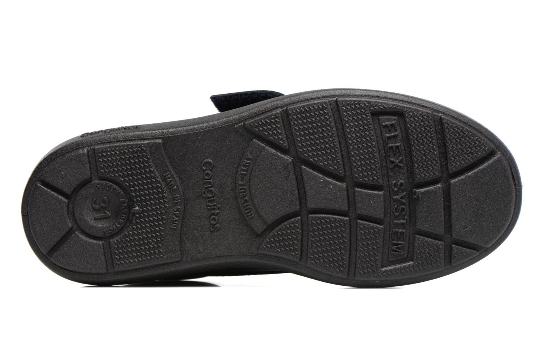 Chaussures à scratch Conguitos Nino Noir vue haut