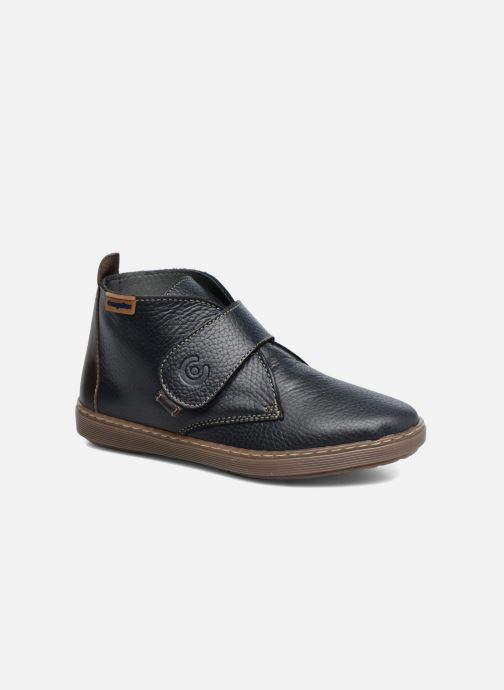 Velcro shoes Conguitos Juan Blue detailed view/ Pair view