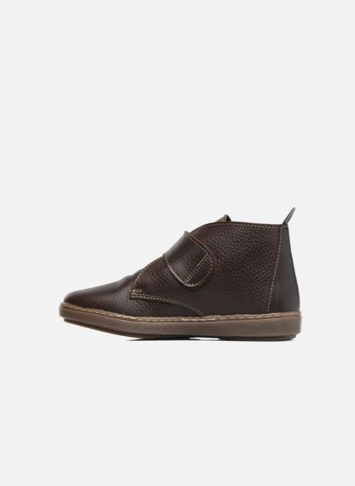 Velcro shoes Conguitos Juan Brown front view