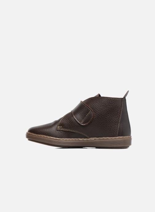 Zapatos con velcro Conguitos Juan Marrón vista de frente