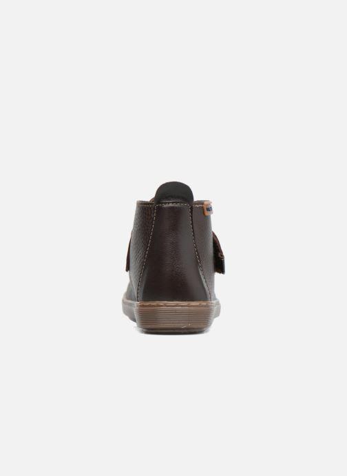 Chaussures à scratch Conguitos Juan Marron vue droite