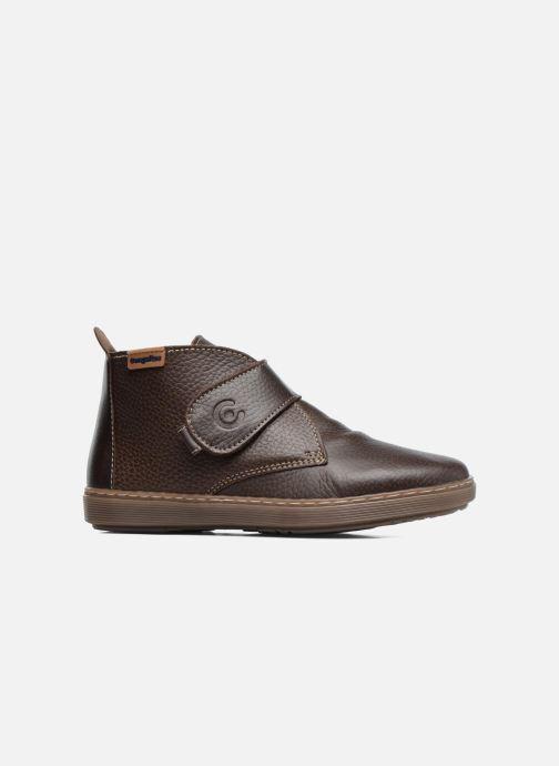 Zapatos con velcro Conguitos Juan Marrón vistra trasera