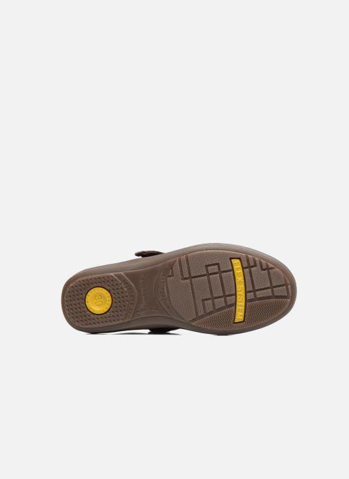 Zapatos con velcro Conguitos Juan Marrón vista de arriba