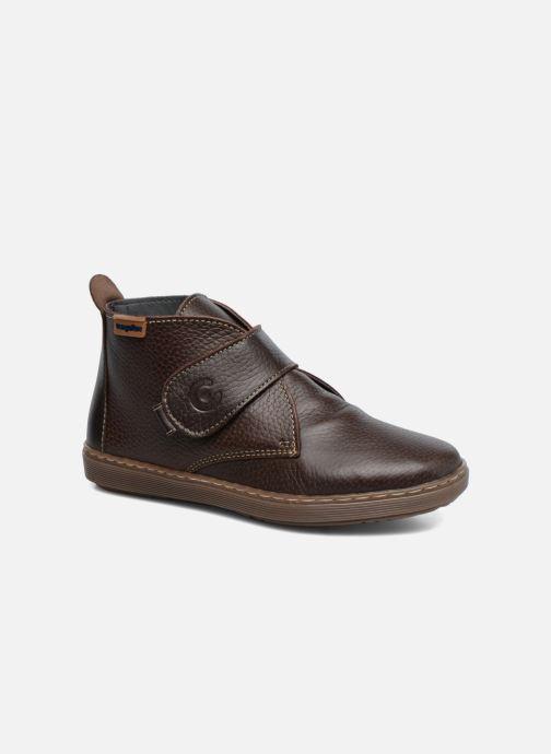 Zapatos con velcro Conguitos Juan Marrón vista de detalle / par