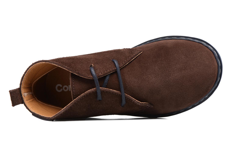 Chaussures à lacets Conguitos Ugo Marron vue gauche