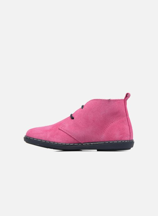 Chaussures à lacets Conguitos Lila Rose vue face