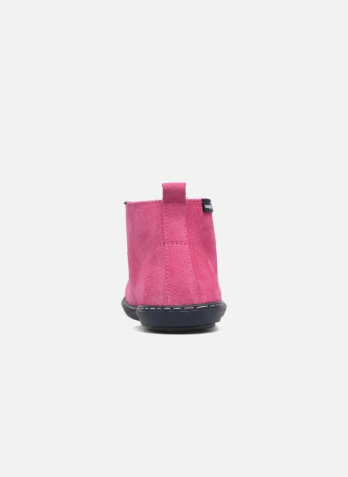 Lace-up shoes Conguitos Lila Pink view from the right