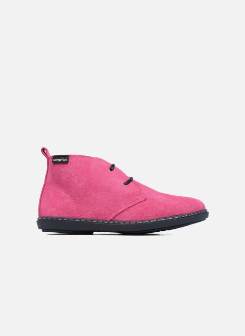 Lace-up shoes Conguitos Lila Pink back view