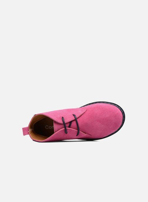 Schnürschuhe Conguitos Lila rosa ansicht von links