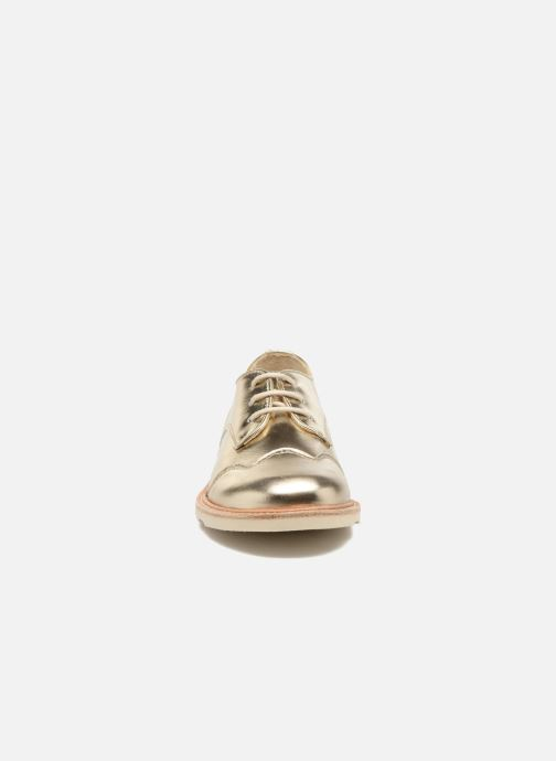 Schnürschuhe Young Soles Olive gold/bronze schuhe getragen