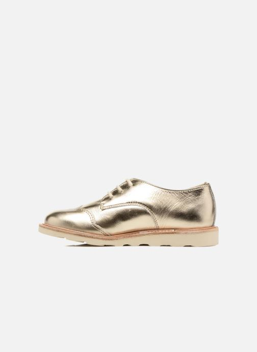 Chaussures à lacets Young Soles Olive Or et bronze vue face