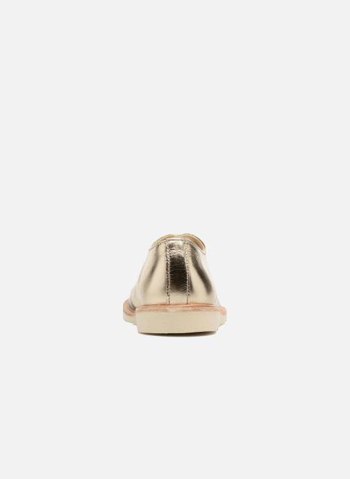 Schnürschuhe Young Soles Olive gold/bronze ansicht von rechts