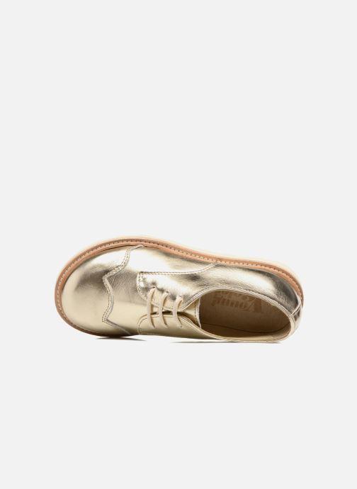 Chaussures à lacets Young Soles Olive Or et bronze vue gauche