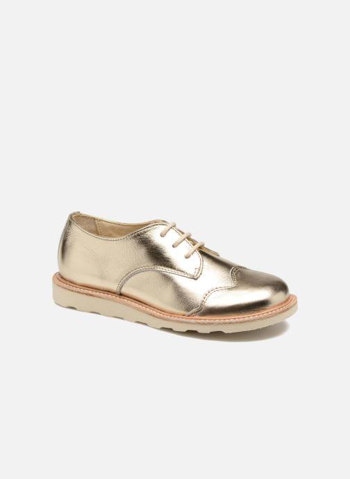 Chaussures à lacets Young Soles Olive Or et bronze vue détail/paire