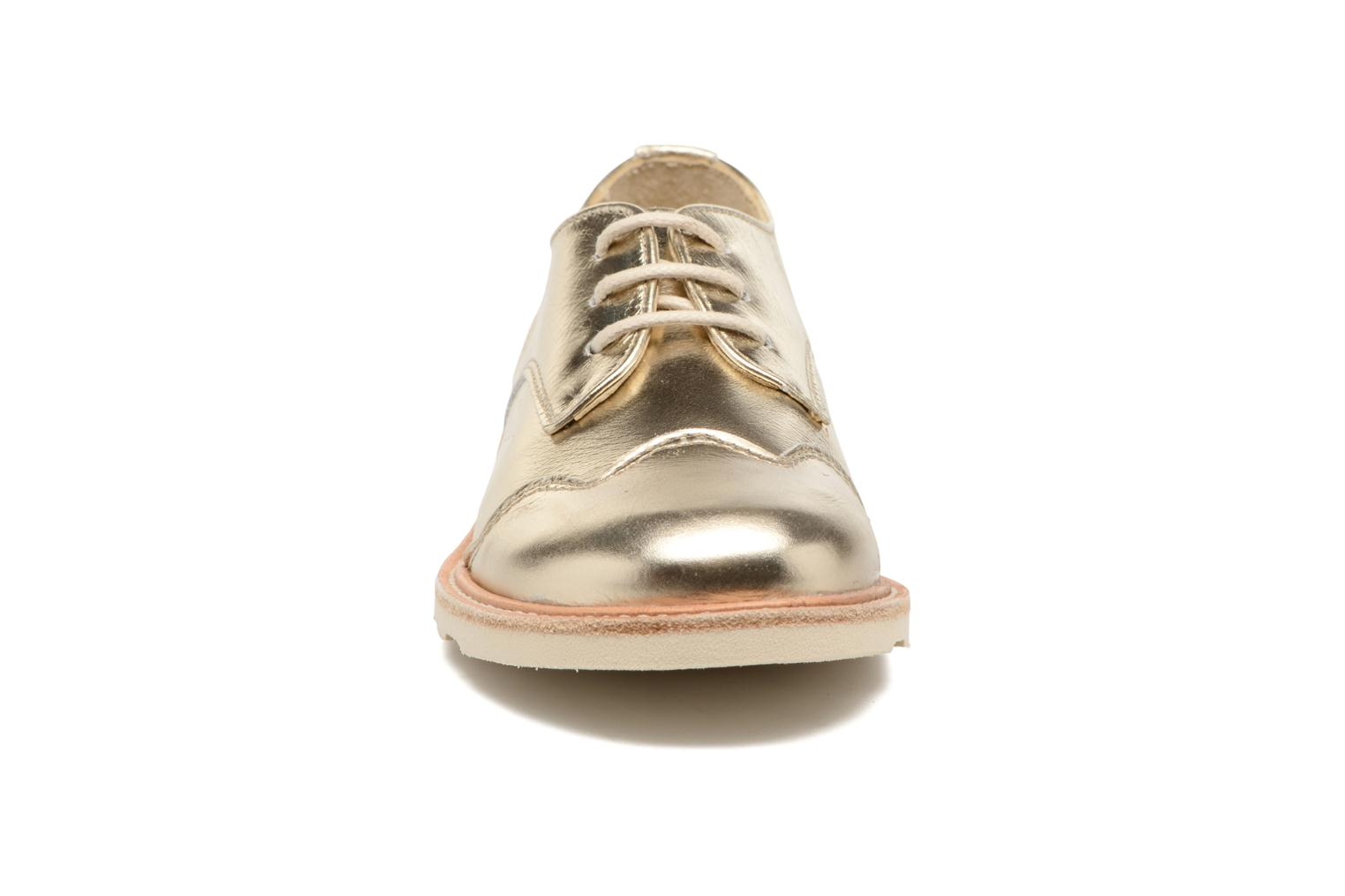 Lace-up shoes Young Soles Olive Bronze and Gold model view