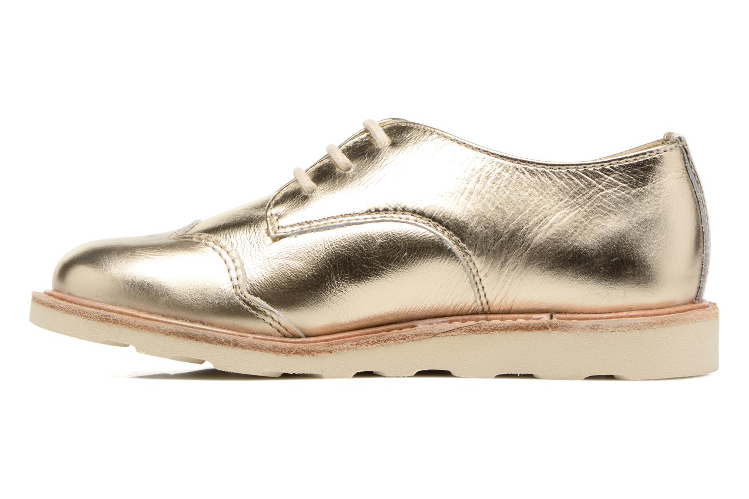 Lace-up shoes Young Soles Olive Bronze and Gold front view