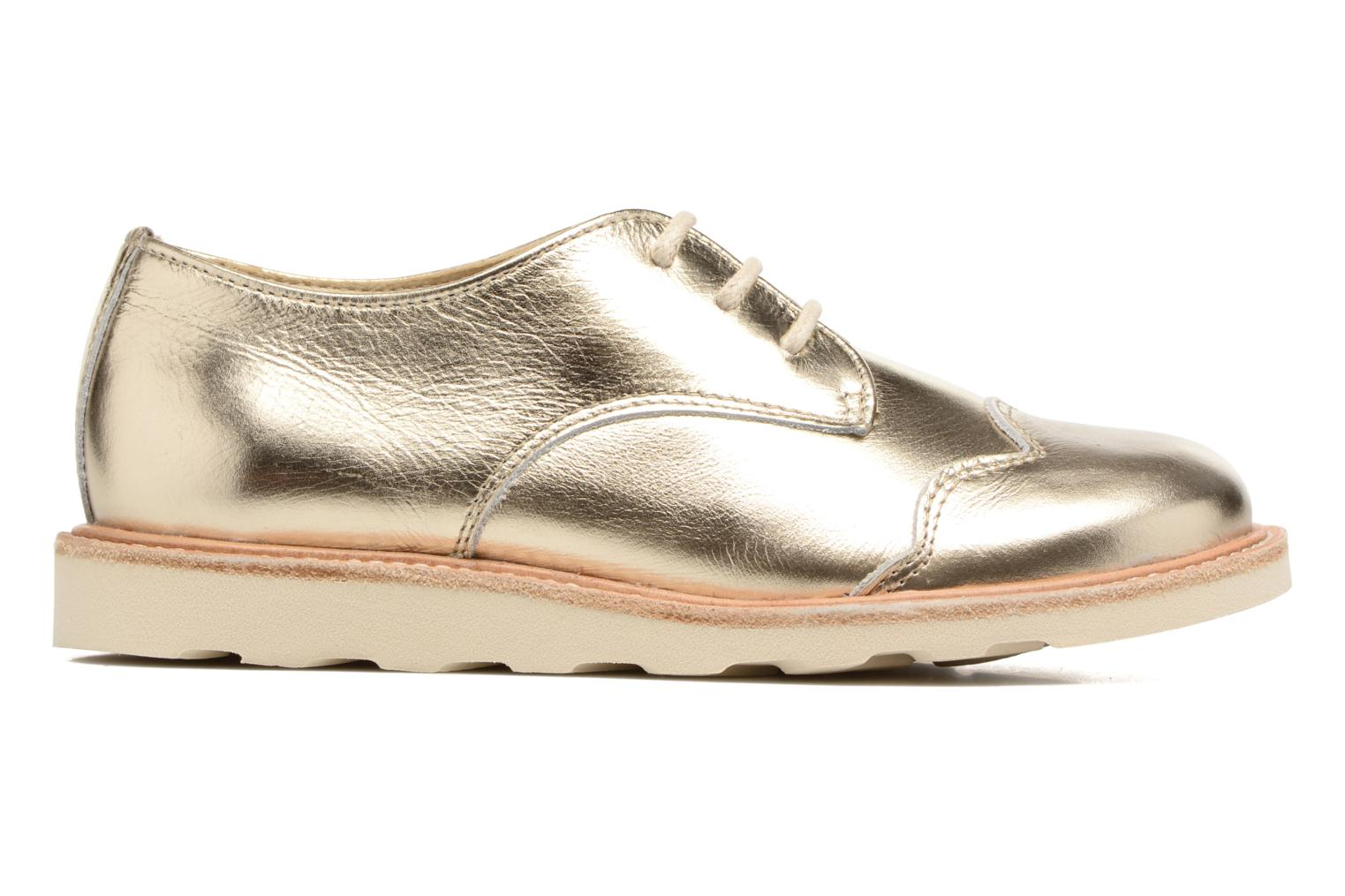 Lace-up shoes Young Soles Olive Bronze and Gold back view