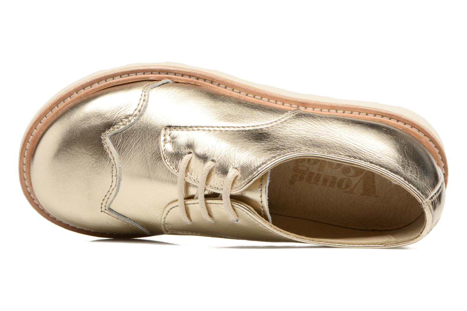 Lace-up shoes Young Soles Olive Bronze and Gold view from the left